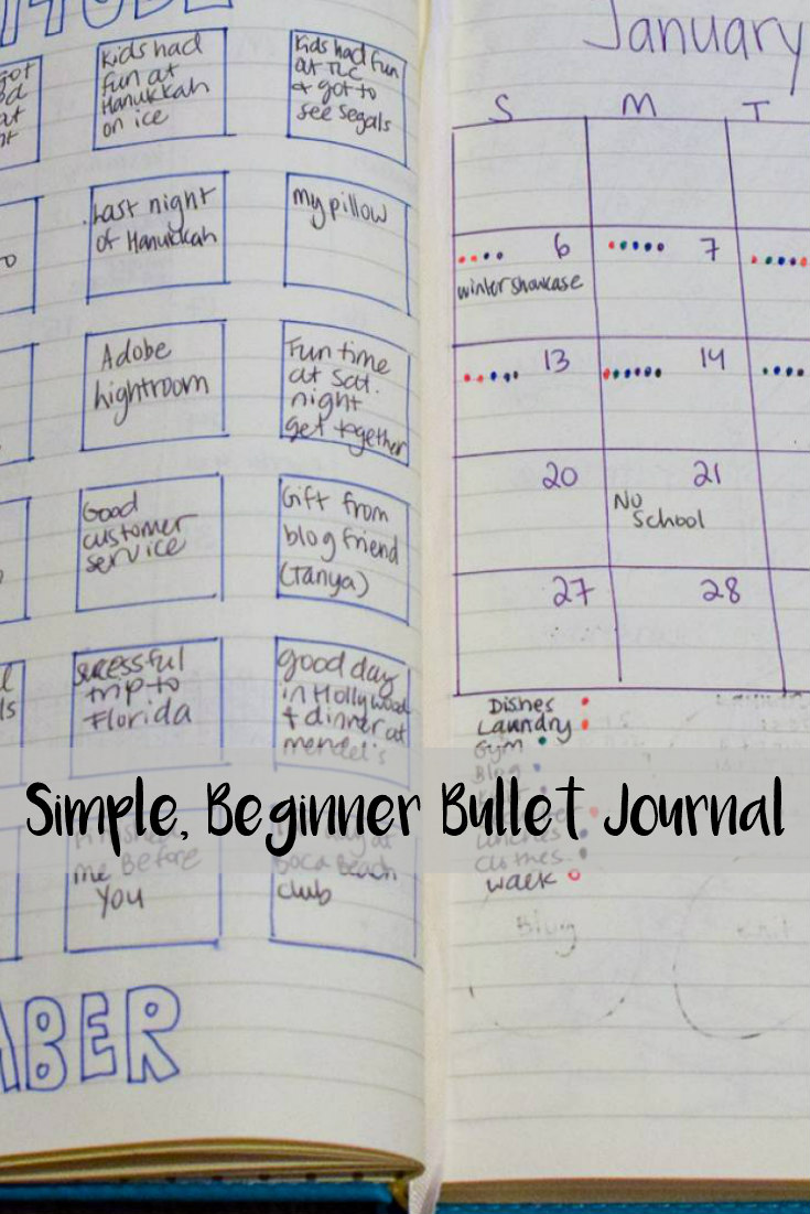 Simple, Beginner Bullet Journal