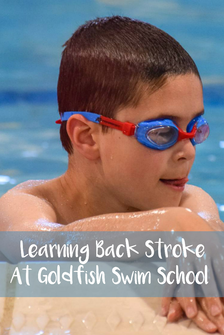 Learning Back Stroke At Goldfish Swim School