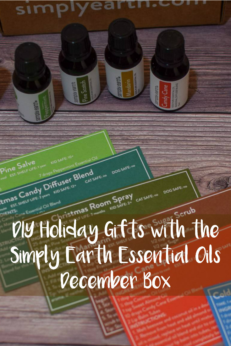 DIY Holiday Gifts with the Simply Earth Essential Oils December Box