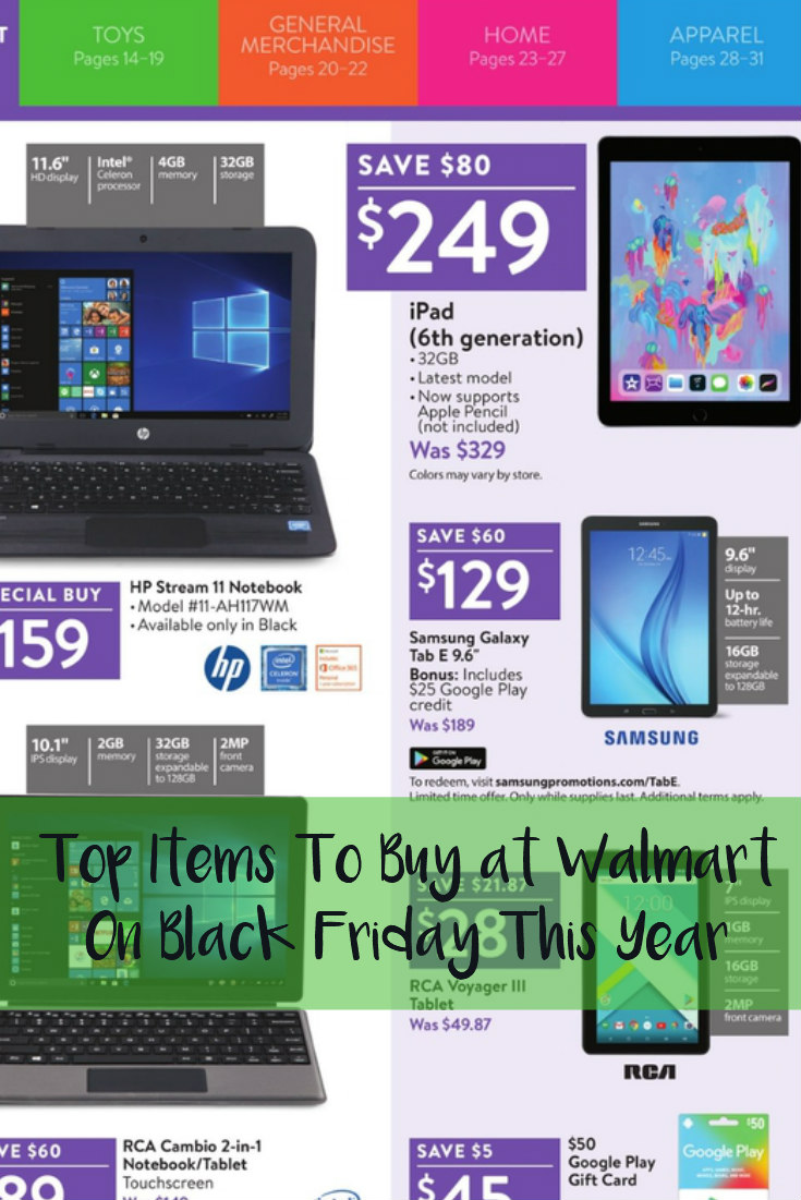 Top Items To Buy at Walmart On Black Friday This Year