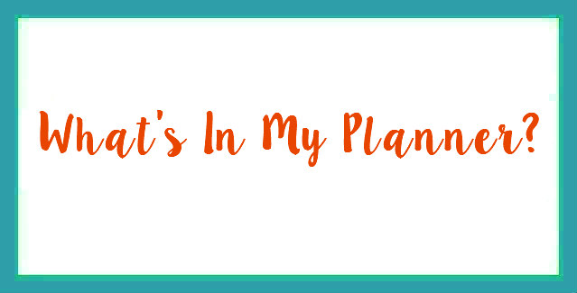 What's In My Planner?