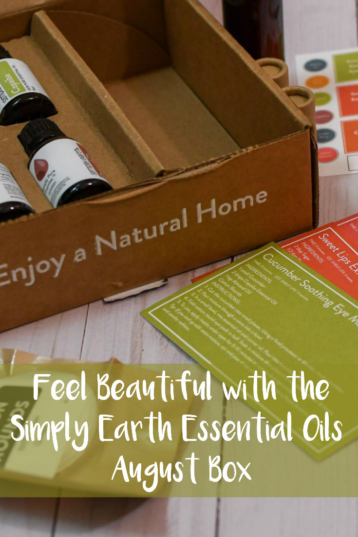 Feel Beautiful with the Simply Earth Essential Oils August Box